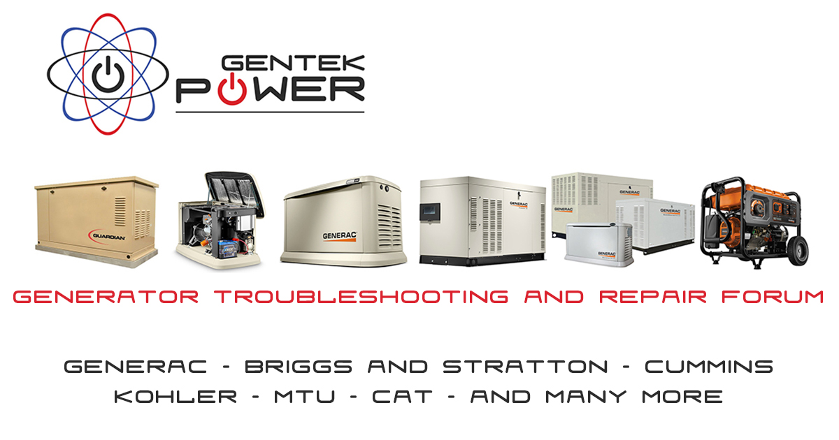 Generac Generator Troubleshooting Help And Repair Forum